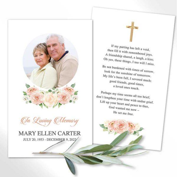 Catholic Funeral Mass Cards Customized