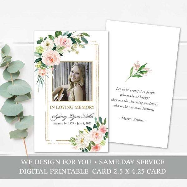 Printable Mass Card Template