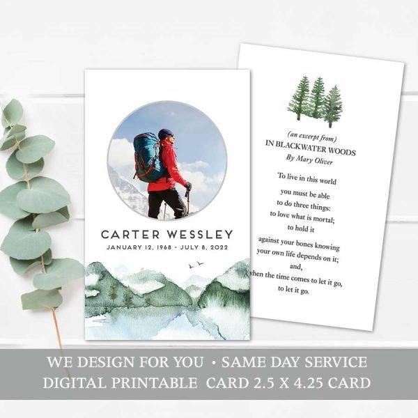 Printable Memorial Card Template