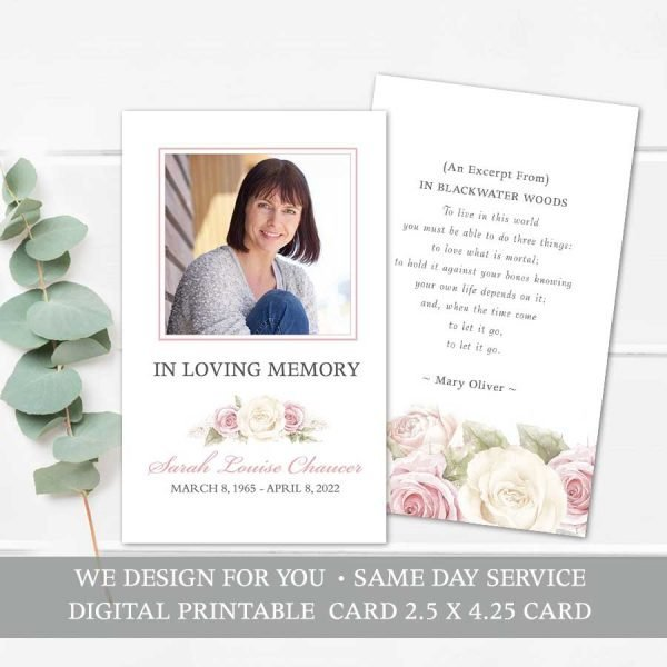 Memorial Keepsake Card Template