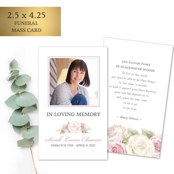 Custom Memorial Prayer Cards