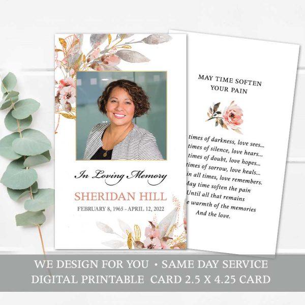 Memorial Service Guest Keepsake Cards