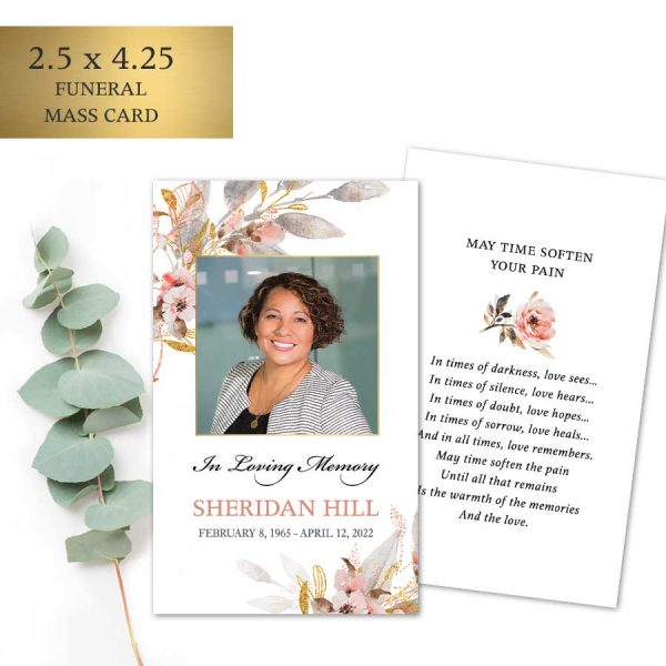 Funeral Mass Card Keepsakes