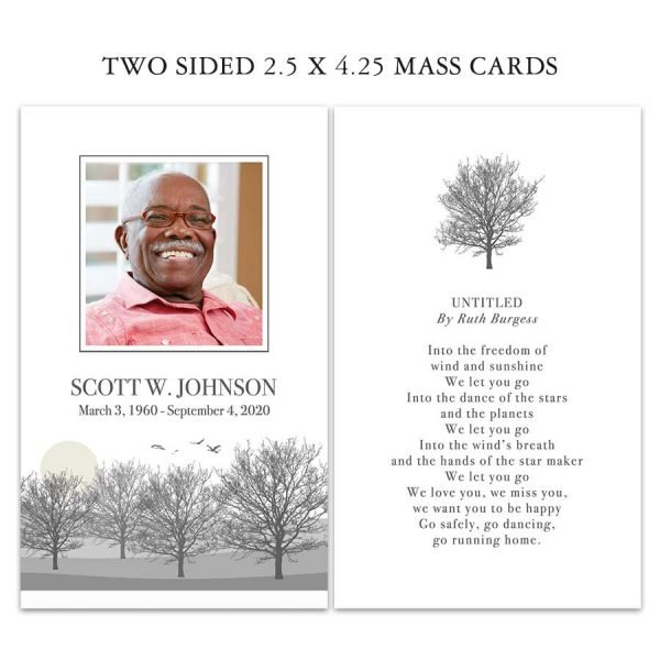 Memorial Mass Remembrance Card