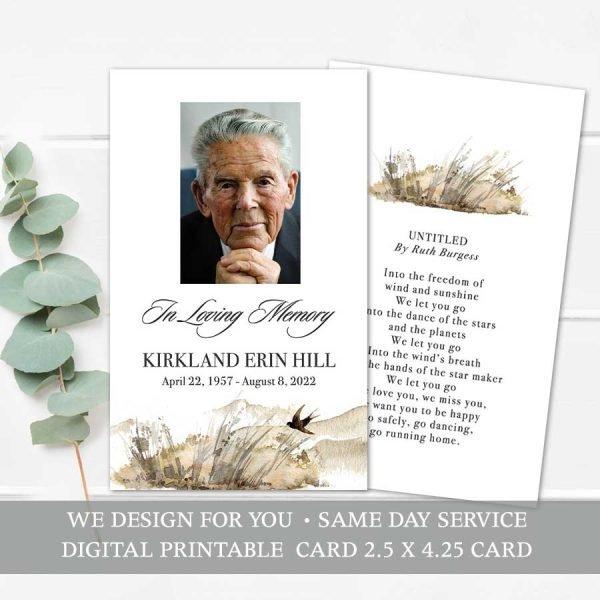 In Loving Memory Card Handout