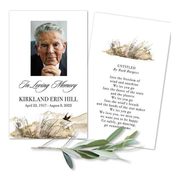 In Loving Memory Mass Card Keepsake
