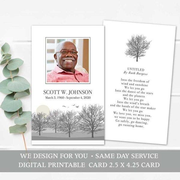 Memorial Remembrance Card Template