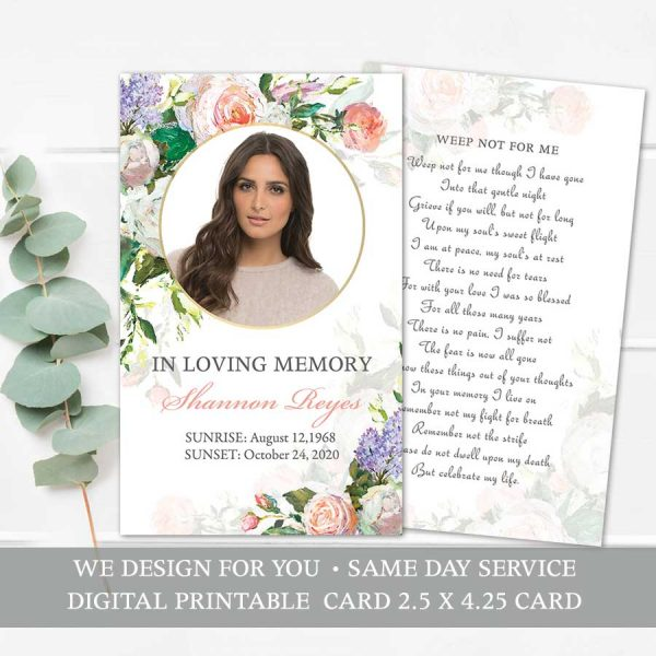Funeral Mass Card Printables Keepsake