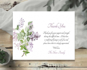 Funeral Thank You Card Wording: What to Say