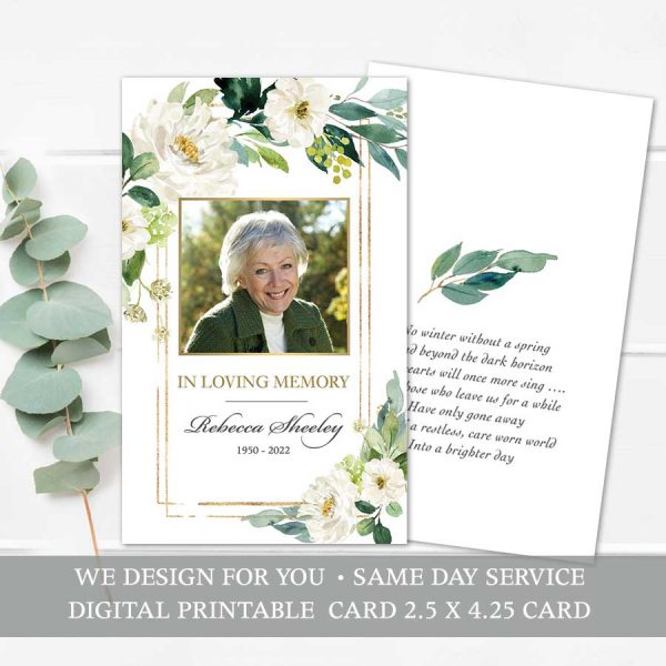 Funeral Mass Card Printable Keepsake