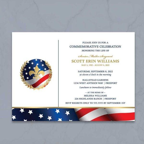 Military Veteran Memorial Funeral Template