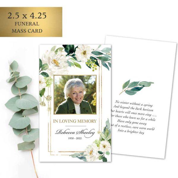 Printed Funeral Mass Cards Keepsake