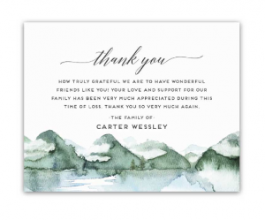 Funeral thank you card wording examples