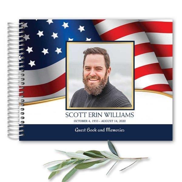 Veterans Military Funeral Guest Book