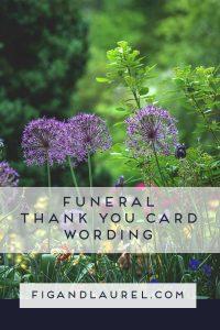 Bereavement card wording