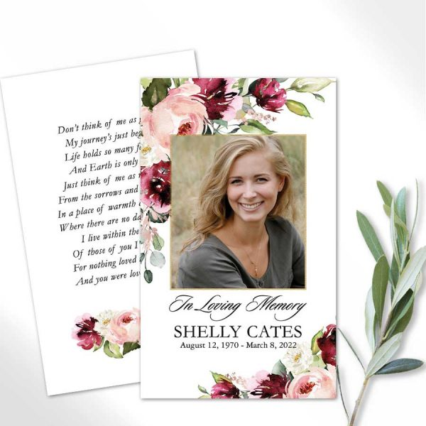 Printed Photo Mass Cards for A Funeral