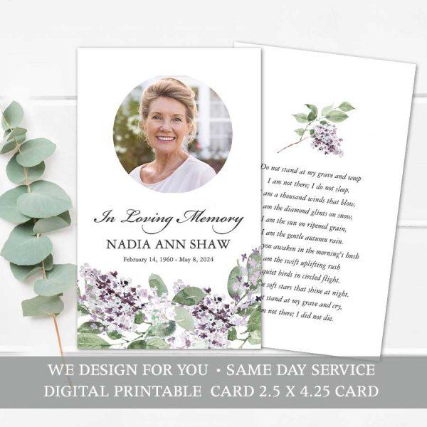 Custom Mass Card Printable Template